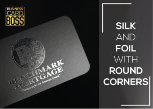 SILK FOIL BUSINESS CARDS WITH ROUND CORNERS