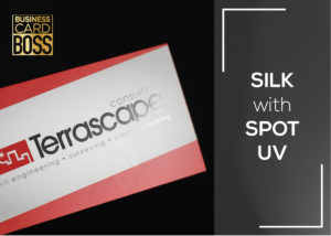 SILK BUSINESS CARDS SPOT UV