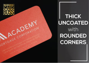 UNCOATED ROUND CORNER BUSINESS CARDS